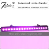 iluminación ULTRAVIOLETA de la boda de la arandela de la pared de la barra RGBWA LED de 18*18W LED