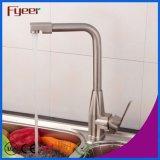 Fyeer Nickle Brushed Mezclador de cocina con bocina giratoria