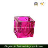 Cube Glass Tealight Candle Holder para decoração de casa Afch-F6074