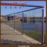 304 acero inoxidable y madera Inoodr Baranda escalera de vidrio (SJ-633)