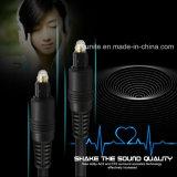 fibra óptica audio plateada oro audio óptico Cabo de Toslink del cable de los 30m Od4.0 Digitaces para el xBox del reproductor de DVD