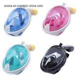 Máscara facial de moda fácil respiración snorkeling