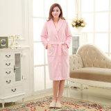 Flanella promozionale/accappatoio/pigiama/indumenti da letto di corallo delle coppie del panno morbido