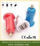 Universal-USB 2 in 1 Handy-Batterie-Auto-Aufladeeinheit mit Doppel-USB-Kanälen