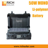 nachladbare Aufladeeinheit des beweglichen SolarmonoStromnetz-50W mit IP 65