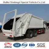 18cbm 유로 4 디젤 엔진 Dongfeng Kinland 3 차축 6X4 쓰레기 쓰레기 압축 분쇄기 트럭