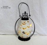 Lanterna di ceramica rotonda per la decorazione domestica