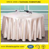"""120 """" 둥근 결혼식 폴리에스테 공단 상보 테이블 덮개 테이블 주자"""