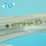 Model van het Vliegtuig van Edihad het Nieuwe A380 1/200 37cm Plastic