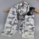 Sciarpa tessuta libera dell'azo della stampa della zebra per l'accessorio di modo delle donne