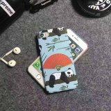 Cajas lindas del teléfono de la impresión de la transferencia del agua de la panda para Samsung S8