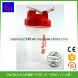 400ml 14oz kundenspezifischer Plastikwasser-Flaschen-Schüttel-Apparat mit Stainess Stahl-Mischer