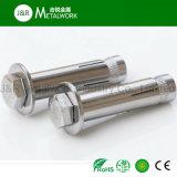 Boulon d'anchrage de chemise de l'acier inoxydable Ss304 Ss316 Ss321