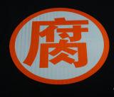 Temporäre Verkehrszeichen des reflektierenden Bandes