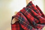 Sjaal van het Geruite Schotse wollen stof van de hoogste Kwaliteit de Klassieke Rode Verweven AcrylKleur (HWBA098)