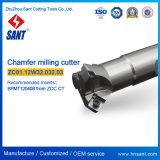 Ferramentas de fresagem de chanfro para inserções de carboneto combinadas com máquina CNC Spmt120408 Consulte o código Zcc Cmz01-032-XP32-Sp12-03 / Zc01.12W32.032.03