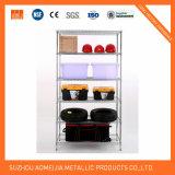 Estantería ajustable del almacenaje de la visualización del estante del estante del vino del cromo del metal de China