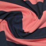 tela Yarn-Dyed de la raya del Spandex del algodón 180GSM