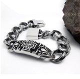 Men Bracelets Silver 316L Stainless Steel Fashion Accessories Punk Jewelry