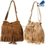 Einfache Form PU-weiblicher Troddel-Handtaschen-Kurier-Beutel