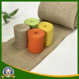 Paño teñido del yute del color para la almohadilla hecha