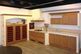 中国からのアメリカの上げられた様式の純木の食器棚