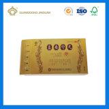 Medicina Diseño personalizado caja de embalaje de papel (tarjeta oro con UV impresión).
