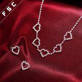 Joyería cristalina de la boda de la dimensión de una variable del corazón del amor fijada para las mujeres