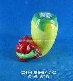 Supporto di candela di ceramica dipinto a mano per la decorazione domestica