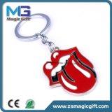 Trousseau de clés chaud de cadeau d'affaires de modèle de bouche de couvercle de ventes