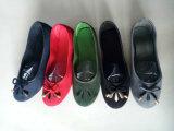 Los zapatos de lona ocasionales planos de las últimas mujeres del diseño con Bowknot del cordón