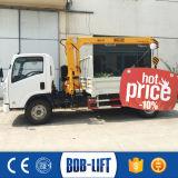 3tonトラックまたは貨物自動車クレーンは販売のために取付けた