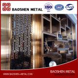 Écran de diviseur de partition de décoration en métal orienté clients