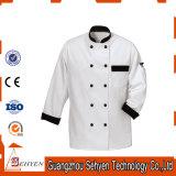 Disegno uniforme del rivestimento di disegno e del cuoco unico del cuoco professionista del ristorante
