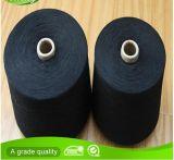 Hilados de polyester negros reciclados del algodón para los guantes