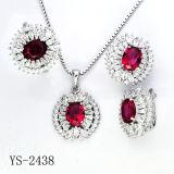Vastgesteld Zilver 925 van de Juwelen van de Manier van Hotsale van de fabriek