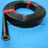 Chemise anti-calorique de boyau de fibres de verre enduits de silicone d'épreuve d'incendie