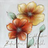 Da lona colorida da flor das artes da parede pintura a óleo Handmade