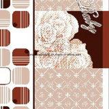 la géométrie Pigment&Disperse de la fleur 100%Polyester a estampé le tissu pour le jeu de literie