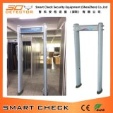 金属探知器を通る機密保護装置の歩行