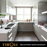 Gabinete de parede de vidro da porta para o gabinete de cozinha branco moderno Tivo-0200h feito-à-medida da pintura