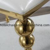 ホームのための優雅デザインローズの金のステンレス鋼のフレームライン椅子は使用した