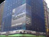 Персонализированное напольное знамя загородки сетки конструкции для рекламировать