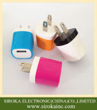 中LEDを持つユニバーサル携帯電話の充電器