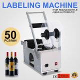 Machine semi-automatique d'étiqueteur de machine à étiquettes de la bouteille Mt-50 ronde