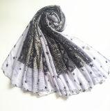 La meilleure écharpe de vente de mode de polyester estampée par serpent du tissu de vérification (HM090)