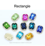 모조 다이아몬드 밴딩은 모조 다이아몬드 수정같은 보석 구슬 금속 클로 조정 결정에 꿰맨다