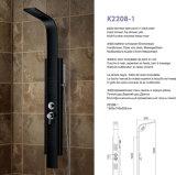 Painel de chuveiro preto Coluna de chuveiro Aço inoxidável K2208-1