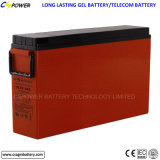 Bateria terminal dianteira do gel do fabricante para as telecomunicações FL12-200ah