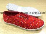 Ботинки спорта ботинок холстины впрыски женщин для рынка Африки (FFCS1219-07)